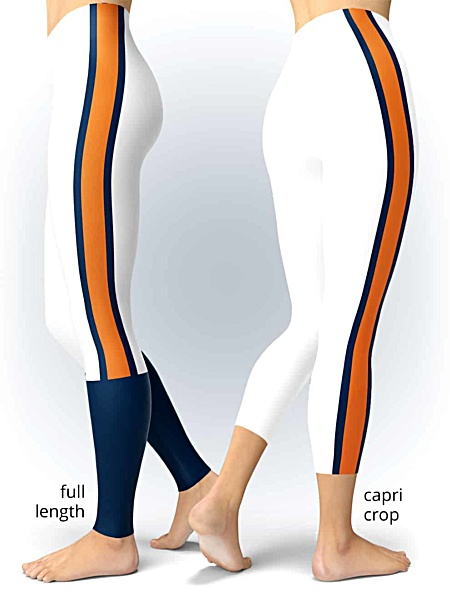Auburn University Tigers Game Day Uniform Leggings tiger stripes college football legging