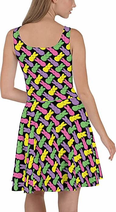 Bunny Easter Dress Marshmallow Peeps Sundress black dress summer spring