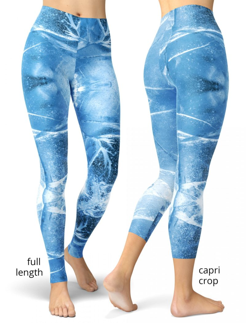 trendy Cracked Blue Ice Leggings