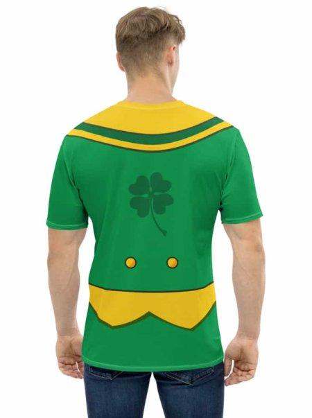 Green St Patrick's Day Leprechaun Suit T-shirt- Men's Short Sleeve