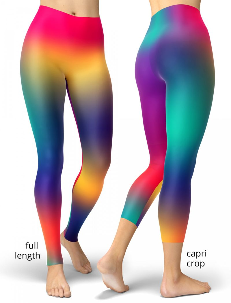 Bright Gradient Colorful Neon Leggings