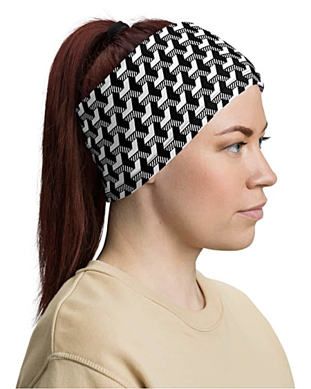 3D Geometric Strip Face Mask Neck Gaiter