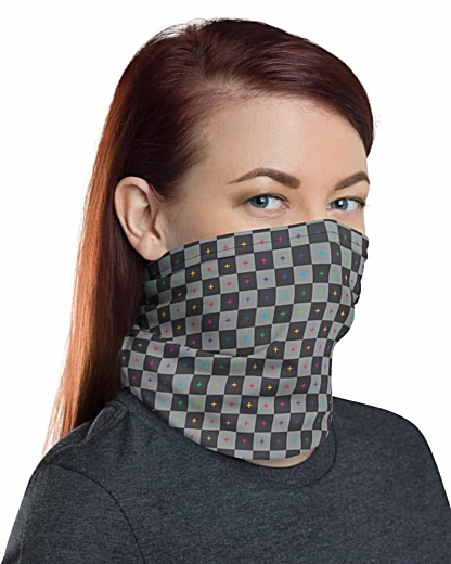3D UV Grid Animation Face Mask Neck Gaiter