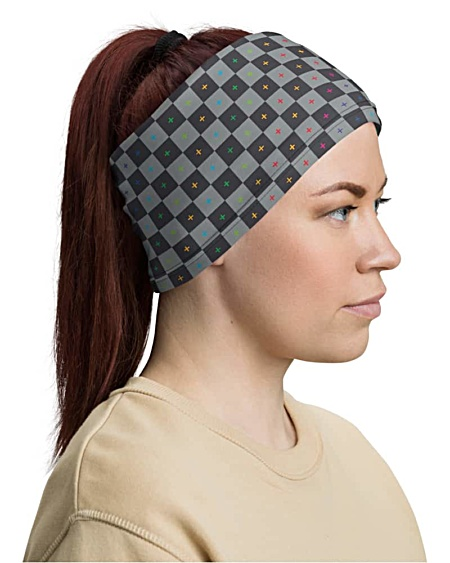 3D UV Grid Animation Face Mask Neck Gaiter