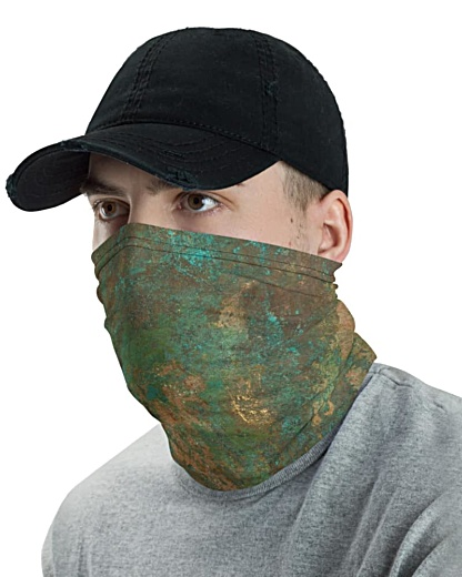 Antique Rusty Copper Face Mask Neck Gaiter