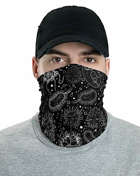Microbiology Virus Face Mask Neck Gaiter viruses diseases