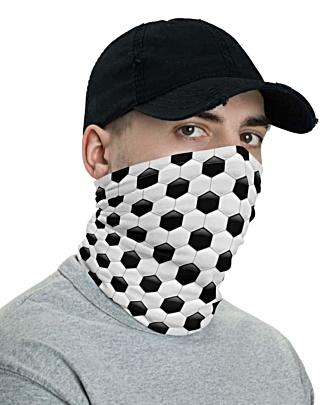 Soccer Ball Face Mask Neck Gaiter European Football