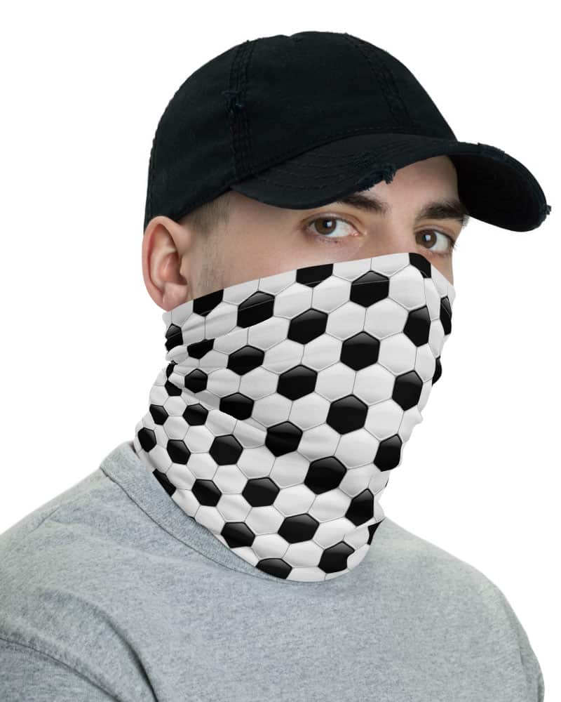Soccer Ball Face Mask Neck Gaiter European Football