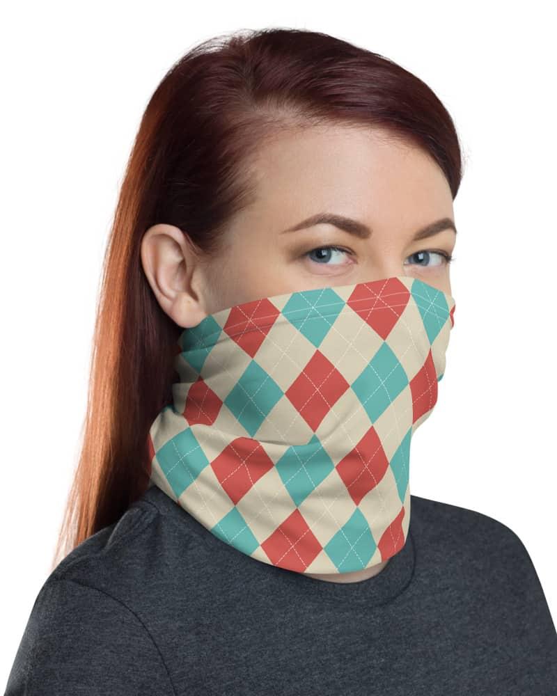 Classic Argyle Face Mask Neck Gaiter