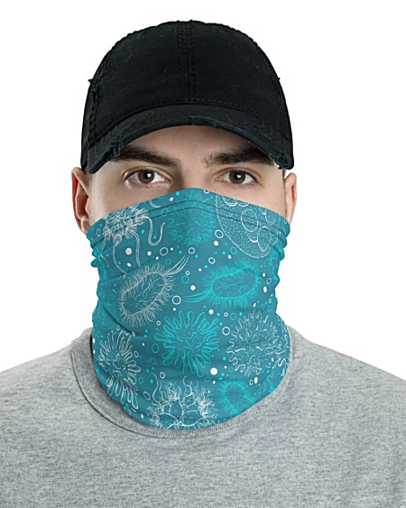 Microbiology Virus Face Mask Neck Gaiter viruses diseases