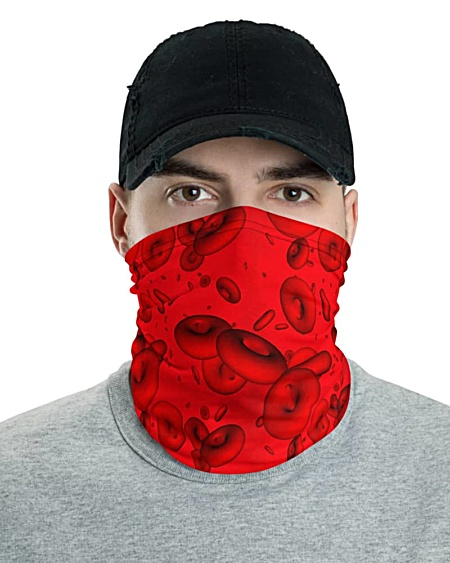 Red Blood Cells Face Mask Neck Gaiter