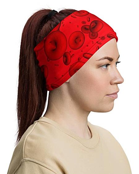 Red Blood Cells Face Mask Neck Gaiter