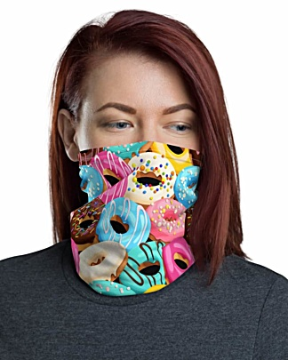 Donuts Face Mask Neck Gaiter