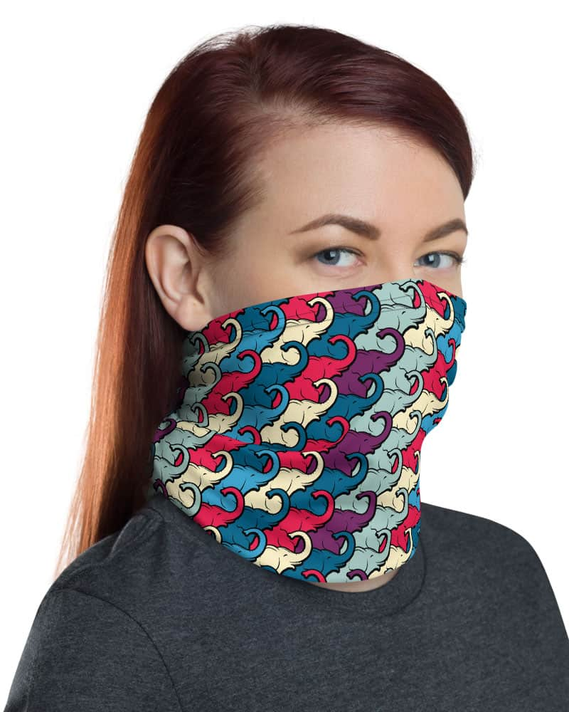 Elephants Elephant Trunk Face Mask Neck Gaiter