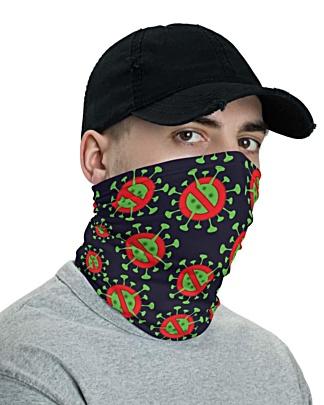 Anti Coronavirus (COVID-19) Face Mask Neck Gaiter