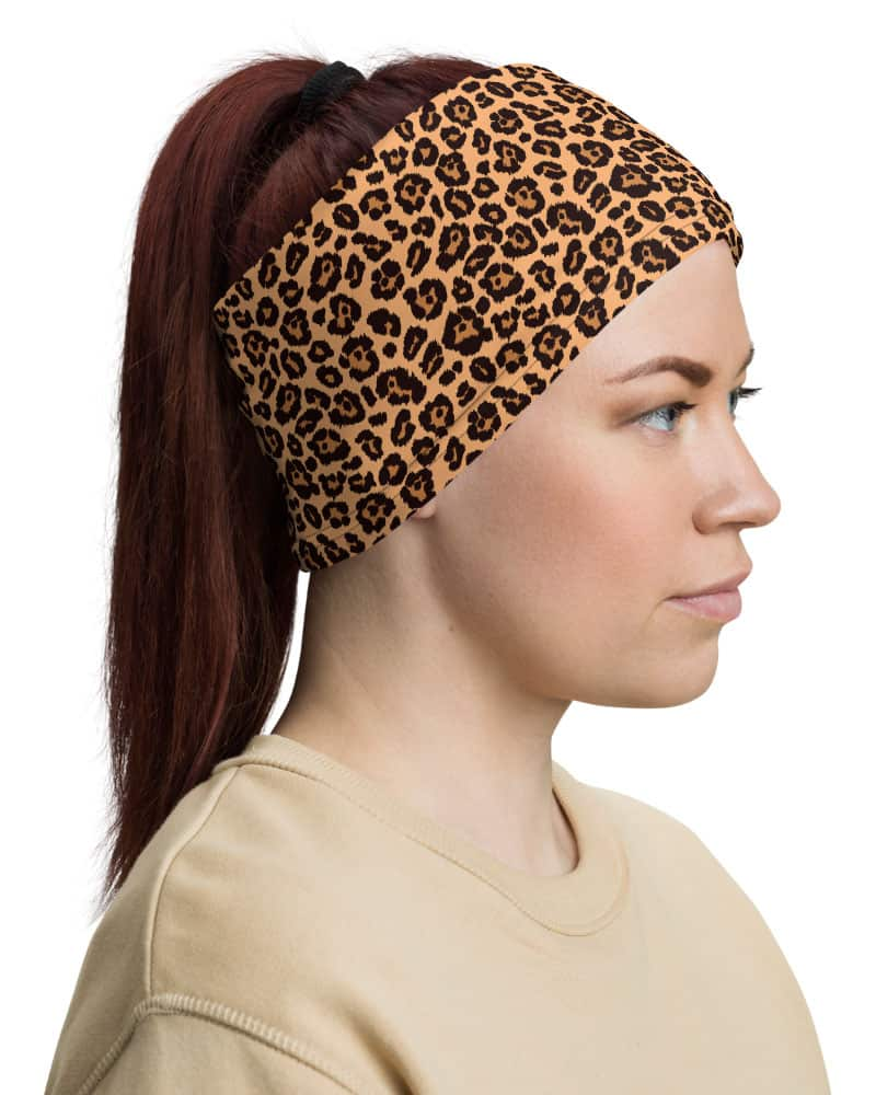Animal Leopard Skin Face Mask Neck Gaiter