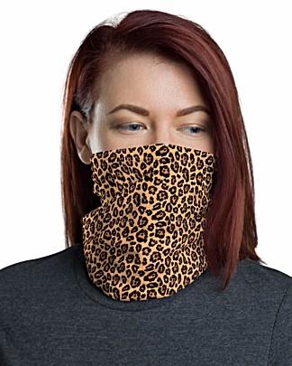 Animal Leopard Skin Face Mask Neck Gaiter