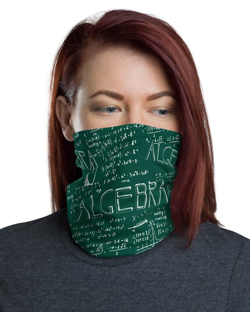 Chalkboard Algebra Math Face Mask Neck Gaiter