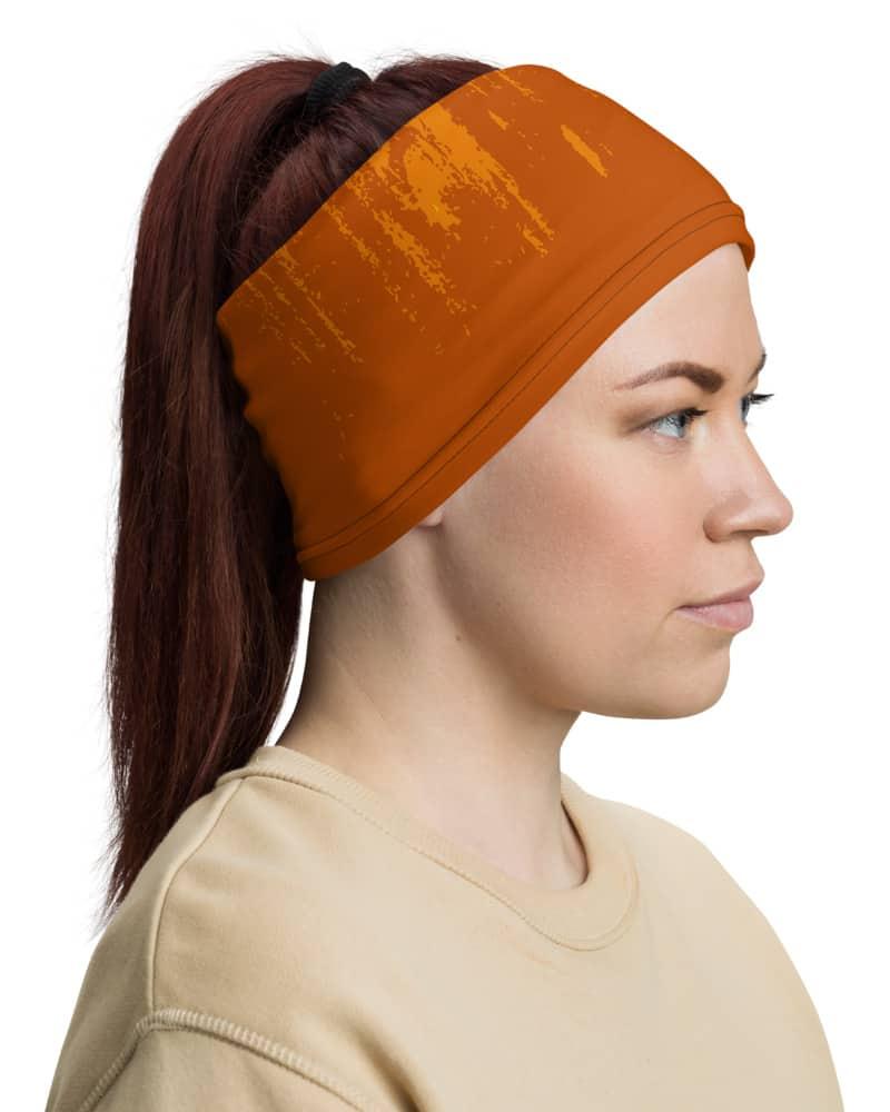 Skeleton Gas Mask Face Mask Neck Gaiter Orange Skull Burnt oxygen
