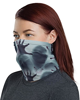 Scary Ghost Shadows Face Mask Neck Gaiter