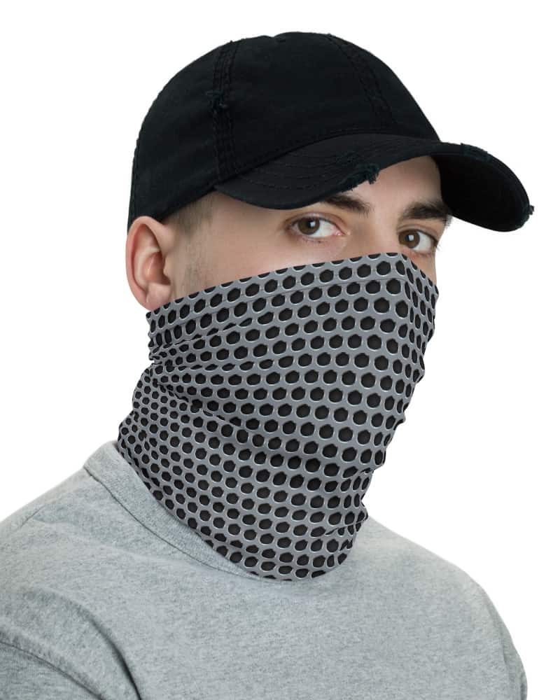 Metal Grill Face Mask Neck Gaiter