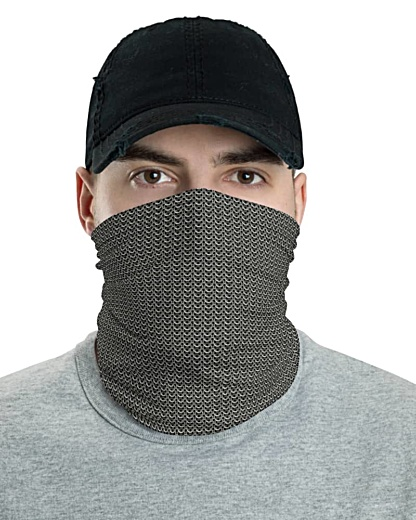 Chainmail Metal Face Mask Neck Gaiter