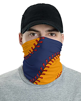 Texas Houston Astros Baseball Face Mask Neck Gaiter ball