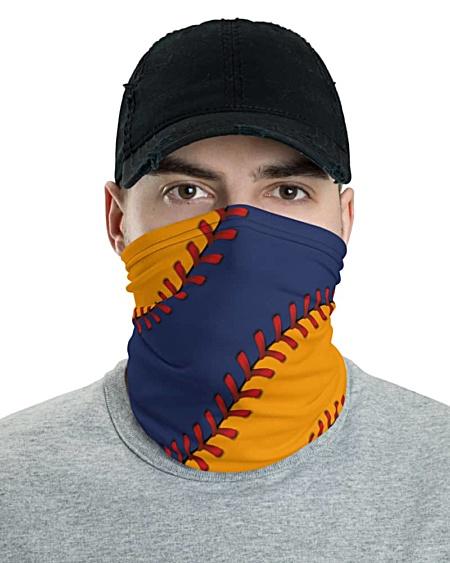 Texas Houston Astros Baseball Face Mask Neck Gaiter ball