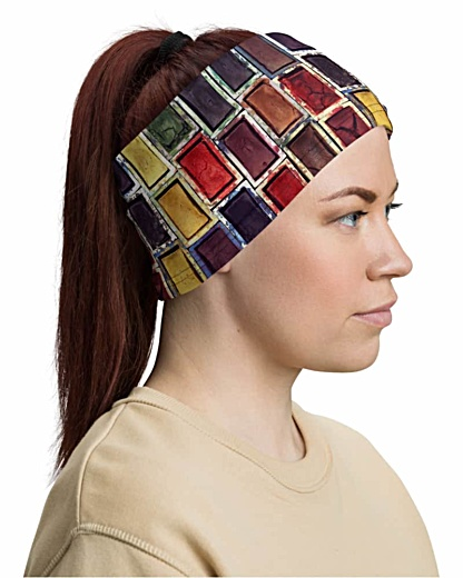 Painter creative Watercolor Paint Set Face Mask Neck Gaiter headband head band