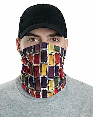 Painter creative Watercolor Paint Set Face Mask Neck Gaiter headband head band