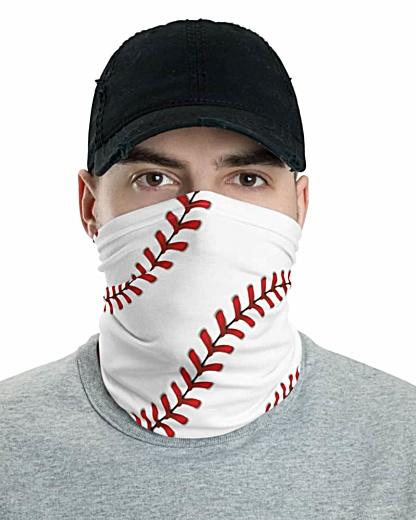 Baseball Stitches Face Mask Neck Gaiter