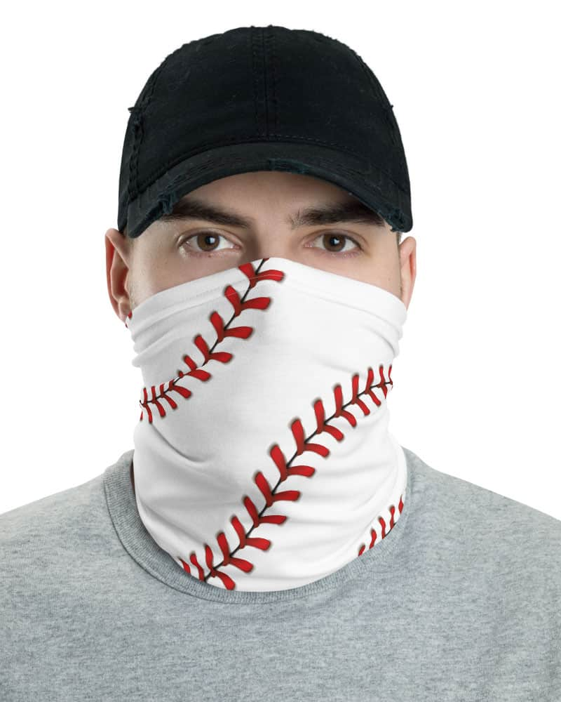 Baseball Stitches Face Mask Neck Gaiter