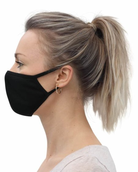 Protective Face Mask (3-Pack) anti covid 19 rona black