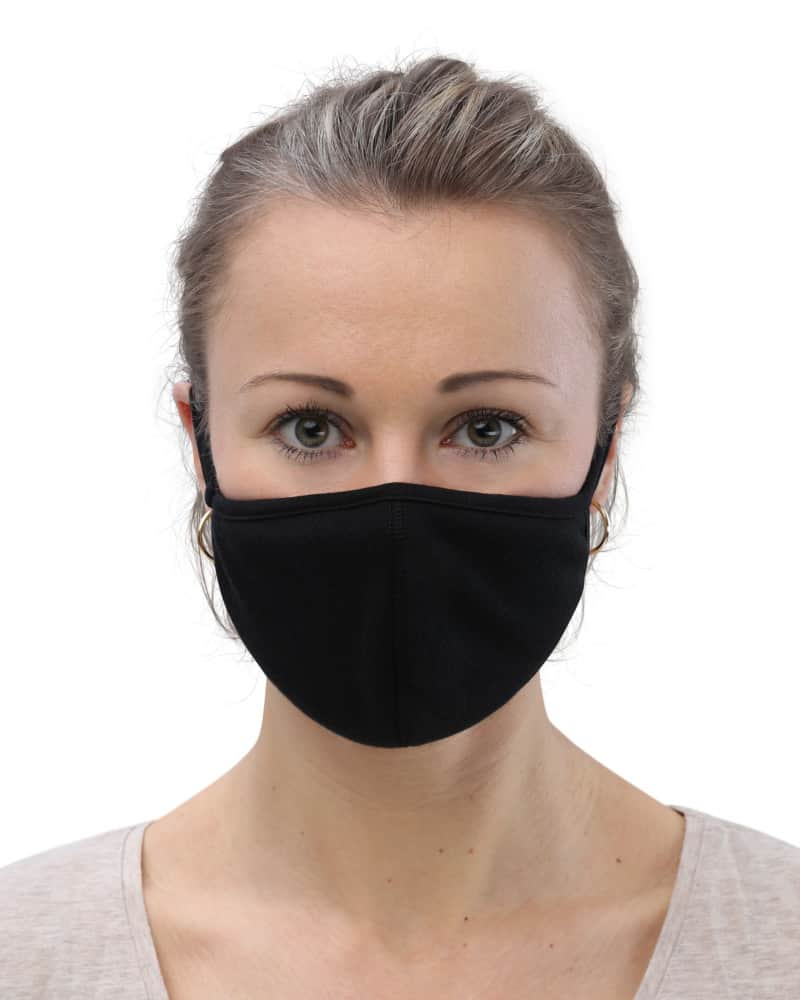 Protective Face Mask (3-Pack) anti covid 19 rona black