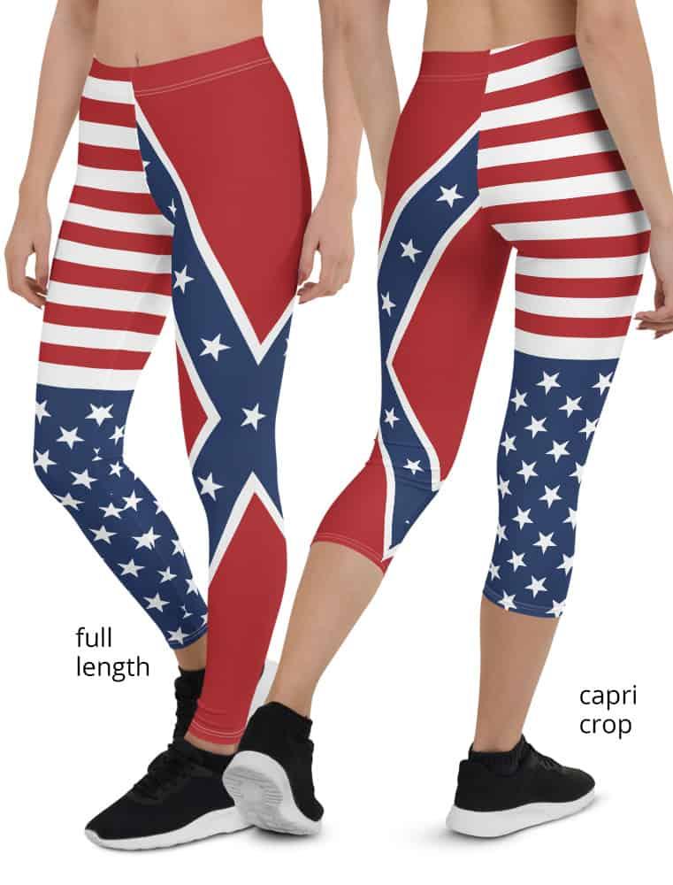 american flag confederate leggings
