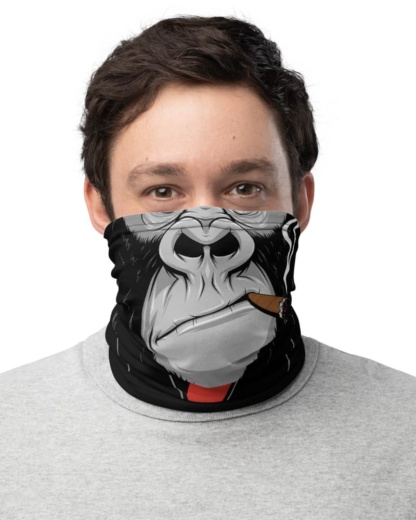 Gorilla Face Mask Monkey face mask bandanna Neck Gaiter cigar smoking smoke