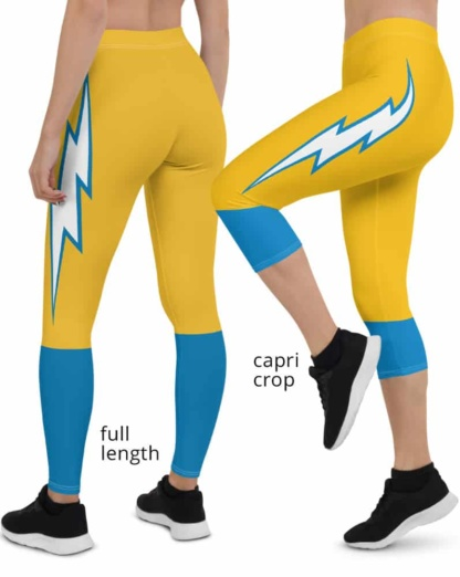 Los Angeles Chargers Game Day Football Uniform Leggings