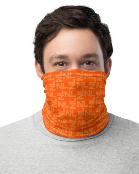 Netherlands Dutch Orange Face Mask Neck Gaiter