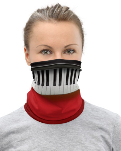 Piano Keys Face Mask Neck Gaiter keys music musician pianist
