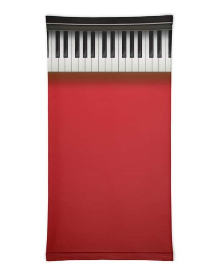 Piano Keys Face Mask Neck Gaiter keys music musician pianist