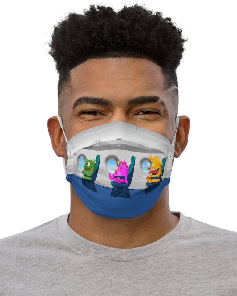 Travelling Alien Passenger Airplane Protective Face Mask coronavirus virus rona covid19