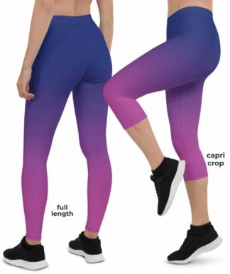 Black & White Green Blue Pink Purple Red Yellow Best Sexy Hot Smart Gradient Leggings