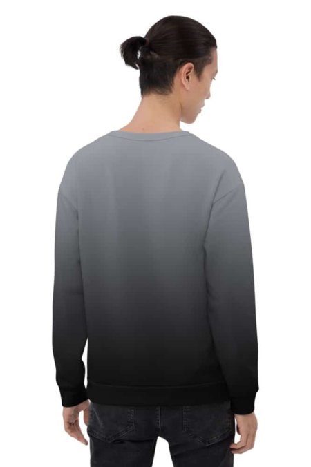 Gradient Sweatshirt / Unisex Size designer fashion color black white gray