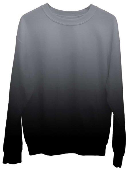Gradient Sweatshirt / Unisex Size designer fashion color black white gray