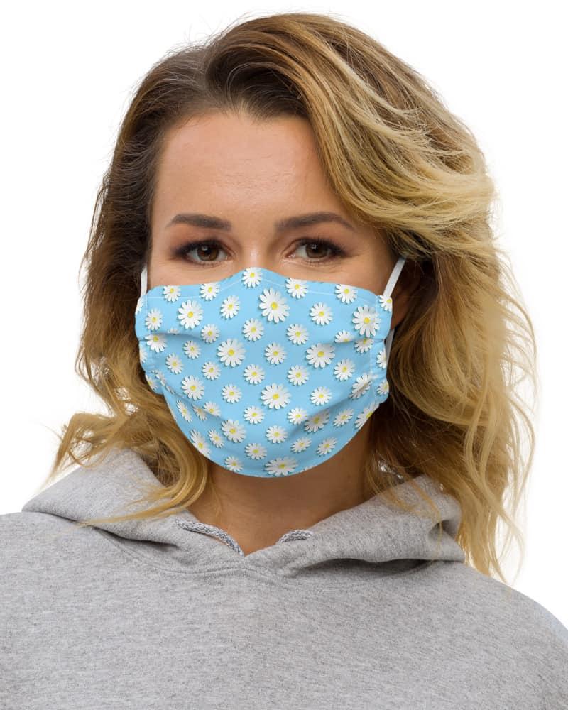 Blue Daisy Protective Face Mask anti virus coronavirus covid 19