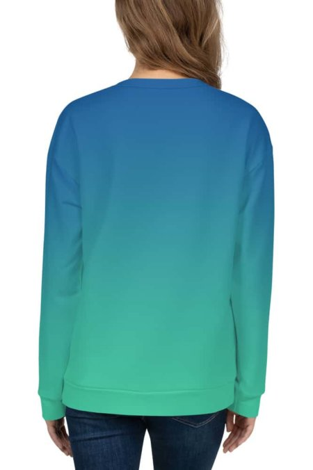 Gradient Sweatshirt / Unisex Size designer fashion color green blue