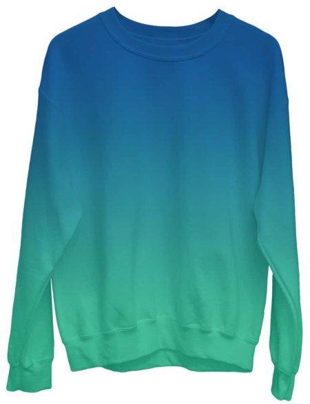 Gradient Sweatshirt / Unisex Size designer fashion color green blue
