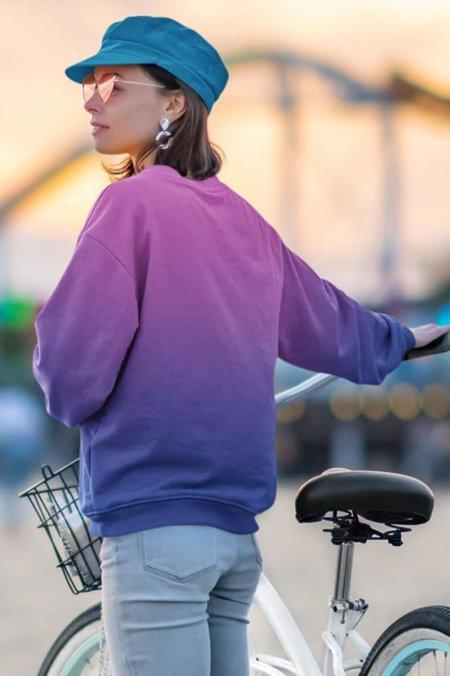 Gradient Sweatshirt / Unisex Size designer fashion color yellow pink purple