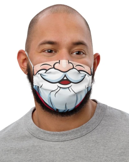 Christmas black Santa Claus Face Mask different races christmas holidays pandemic coronavirus