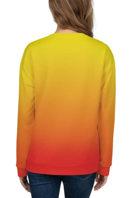 Gradient Sweatshirt / Unisex Size designer fashion color yellow orange red